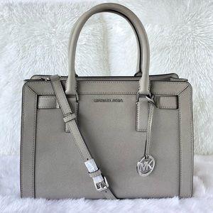 🌟Michael Kors Pearl Gray Medium Leather Satchel